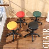 《BuyJM》馬卡龍皮面圓型旋轉椅(綠色)