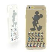 《Disney》iPhone 6 彩繪手繪風透明保護硬殼-剪影米奇/水墨米奇(剪影米奇)