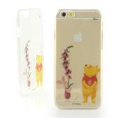《Disney》iPhone 6 彩繪手繪風透明保護硬殼-水彩系列(維尼小豬)