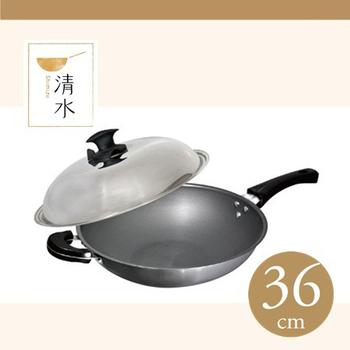 ★結帳現折★清水鍋具 清水超輕炒鍋(36CM-單柄)
