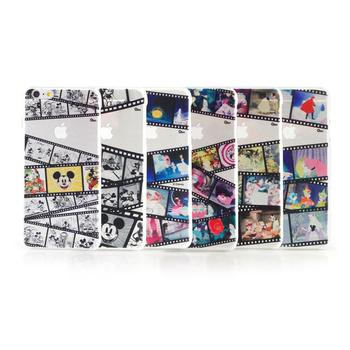 Disney iPhone 6 plus 彩繪膠捲系列透明保護硬殼(黑白米奇)