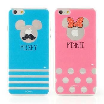 Disney iPhone 6 plus 彩繪現代風透明保護硬殼(藍米奇)