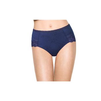 黛安芬 逆齡Bra 內衣 修飾配褲M-EL中腰款(閃耀藍寶石-M)