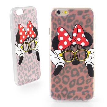 Disney iPhone 6 彩繪豹紋系列透明保護軟套-時尚米妮