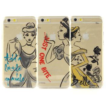 Disney iPhone 6 彩繪公主系列透明保護硬殼-水墨風(白雪公主)