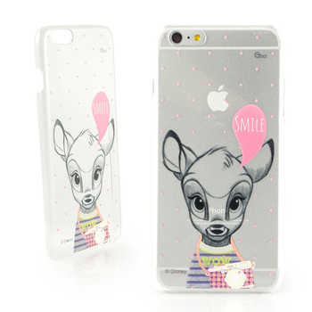 Disney iPhone 6 plus 彩繪素描風透明保護硬殼-時尚斑比