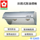 R3260S雙效熱熔解斜背式70cm除油煙機