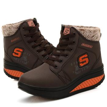 Alice韓系館 【預購】冬氛必備獨家設計內加厚靴型健走鞋-咖(咖36)