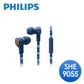 《PHILIPS 飛利浦》CitiScape Jetts 入耳式耳機(SHE9055)(條紋藍)
