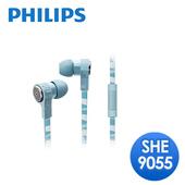 《PHILIPS 飛利浦》CitiScape Jetts 入耳式耳機(SHE9055)(條紋藍綠)