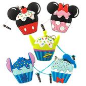 《Disney》多功能可愛造型夾子式耳機防塵塞捲線器吊飾-蛋糕系列(米奇)