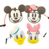 《Disney》多功能可愛造型夾子式耳機防塵塞捲線器吊飾-復古系列(米奇)