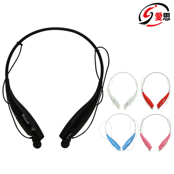 【送運動手機臂套】雙耳運動藍芽耳機 頸掛式 隨身慢跑(黑)