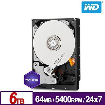 WD 威騰 紫標 6TB 3.5吋 SATA Ⅲ硬碟 (WD60PURX)