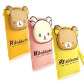 《Rilakkuma》拉拉熊/懶懶熊 5.5吋通用大頭彩繪皮革手機袋(橘黃)