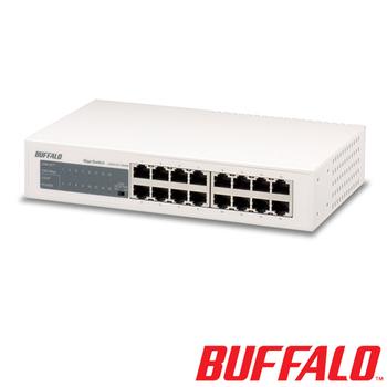 BUFFALO 16 Port 交換器LSW4-GT-16NSRTW
