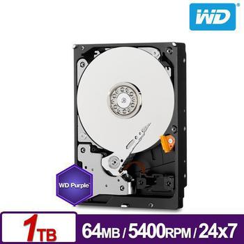 WD 威騰 紫標 1TB 3.5吋監控系統硬碟 WD10PURZ