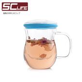 《SC life》三件式炫彩茶杯-藍色