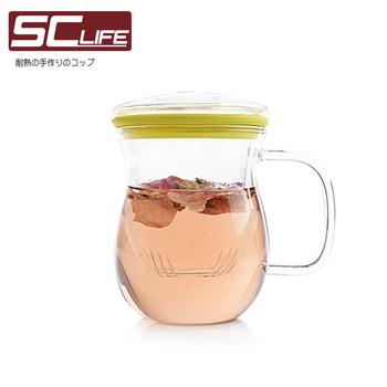 SC life 三件式炫彩茶杯-綠色