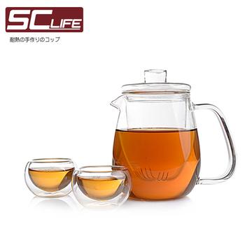 SC life 三件式茶海壺品茗杯(一壺兩杯)