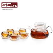 《SC life》三件式小茶壺(一壺六杯)