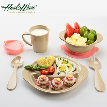 Husk's ware 美國Husk's ware稻殼天然無毒環保兒童餐具組微笑款