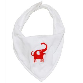瑞典Klippan 好舒服口水巾圍兜兜 一包兩入(同款花色-小紅象)