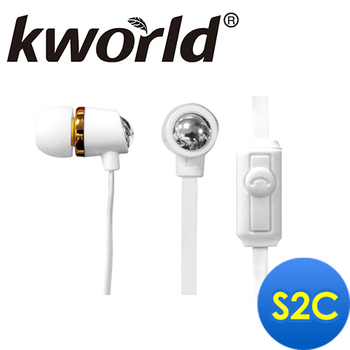 Kworld廣寰 入耳式電競音樂耳麥(S2C)