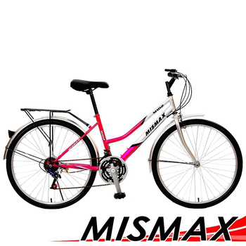 MISMAX M102 26吋18速城市型優質實用平價低跨通勤車(6色隨機出貨)(女性騎乘)