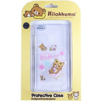 Rilakkuma 拉拉熊/懶懶熊 ASUS ZenFone 5 彩繪透明保護軟套-Fun Fun熊(單一規格)