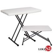 《LOGIS》78CM多功能防水輕巧塑鋼折合桌/電腦桌/露營桌(78CM塑桌)