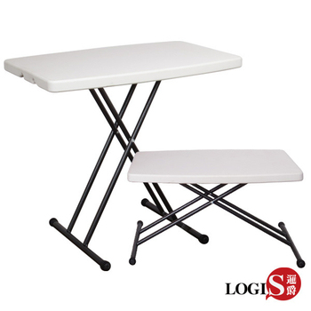 LOGIS 78CM多功能防水輕巧塑鋼折合桌/電腦桌/露營桌(78CM塑桌)
