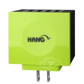 《HANG》颶風基地-高效散熱 4 USB 商務快充(蘋果綠)