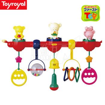 日本《樂雅 Toyroyal》 嬰兒床專用健力架