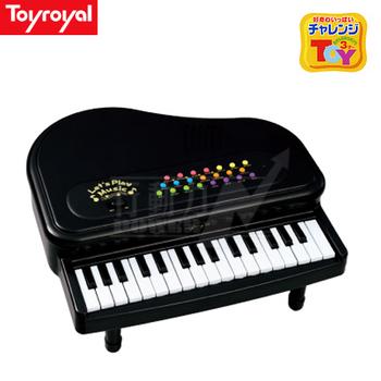 日本《樂雅 Toyroyal》 多功能迷你鋼琴-經典黑【禮盒包裝】