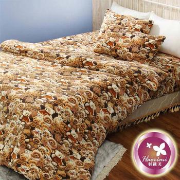 羽織美 熊熊天地 雪芙絨溫暖加大被套床包組