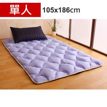 Homebeauty 日式羊毛保暖收納睡墊床墊-單人(星際之旅)