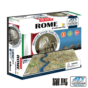 《4D Cityscape》4D 立體城市拼圖 - 羅馬 1200 片 +