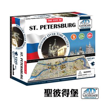 《4D Cityscape》4D 立體城市拼圖 - 聖彼得堡 1245 片 +