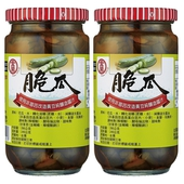 《金蘭》脆瓜(380g*2 瓶/組)