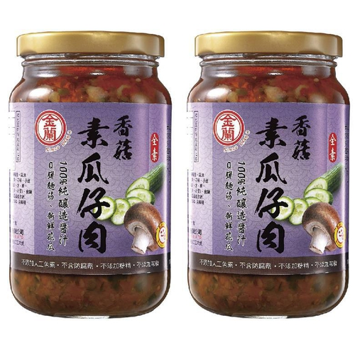《金蘭》香菇素瓜仔肉(370gx2瓶/組)