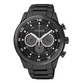 《CITIZEN》光動能。星耀騎士黑三眼計時腕錶(CA4035-57E -黑)