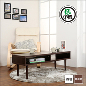 《BuyJM》環保低甲醛厚板茶几桌-寬105公分(胡桃)