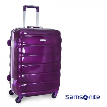 Samsonite 新秀麗 Oval系列舊換新24吋四輪亮面鋁框行李箱(葡萄紫)