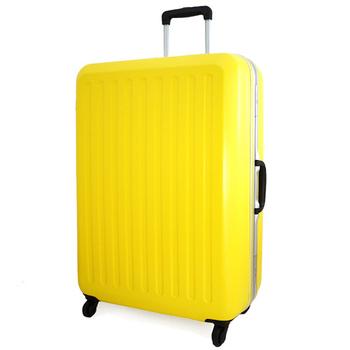 CROWN皇冠/LOJEL 27吋玩色積木輕量鋁框霧面行李箱(明亮黃)