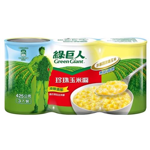 綠巨人 珍珠玉米醬(418g*3罐/ 組)