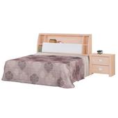《時尚屋》雅典栓木6尺加大雙人床007-3+007-4不含床頭櫃(床頭+床底)
