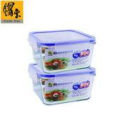 《鍋寶》耐熱玻璃保鮮盒1100ML2入EO-BVC1102Z2