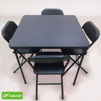 ★結帳現折★DFhouse 威爾餐桌椅組 - 一桌四椅(黑色)