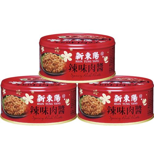 《新東陽》辣味肉醬(160g*3罐/組)